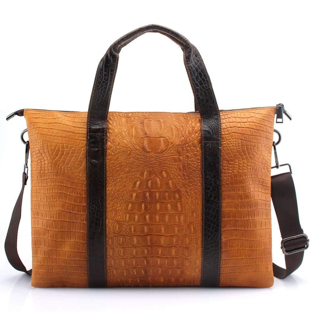 Lianaic Laptoptasche Leder Herren Tasche Herren Aktentasche Luxus Leder Geschäft Computer Laptop Tasche Messenger Bag