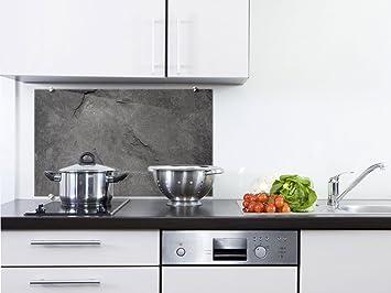 graz-design Küchen-Spritzschutz aus Echtglas | Bild-Motiv Granit ...