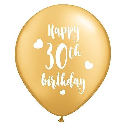 Amazon Gold 30th Birthday Latex Balloons 12inch 16pcs Girl