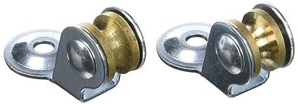 Chapuis VPSL1 2 poulies sèche-linge - matière: Acier Zingué - Diamètre: 12  mm - pour corde de: 3 mm - couleur: Métal, Gris, Set de 2 pièces