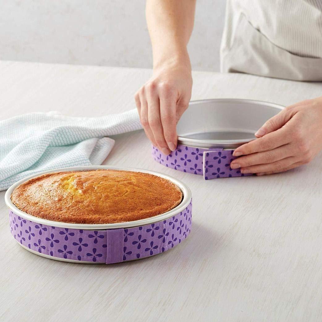 Jashem Bake Even Strip 4 Pieces Cake Wrap Strip Super Absorbent Thick Cotton Cake Pan Strips for Baking
