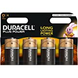 Duracell Plus Power Piles Alcalines type D, Lot de 4