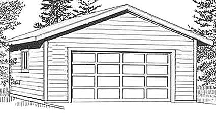 Amazon Garage Plans 2 Car Garage Plan 6721 24 x 28 two – 24X28 Garage Plans