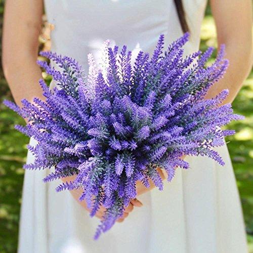 YSBER-10-pcs-Artificial-Flocked-Lavender-Bouquet-Fake-Flowers-Bunch-Bridal-Home-DIY-Floor-Garden-Office-Wedding-Decor-Purple