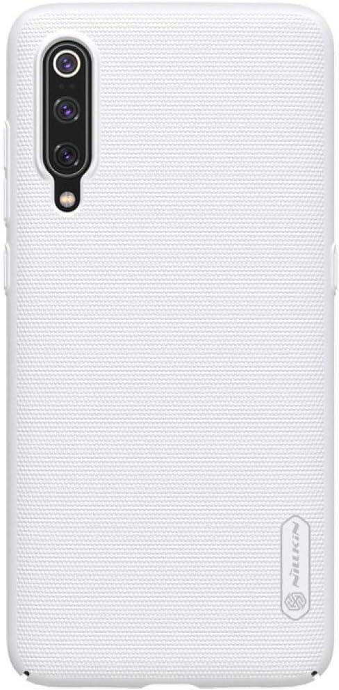 ZFLL Protector de Pantalla para Xiaomi Mi 9 Mi9 Mi 8 Mi8 K20 Mi 9T Pro Funda Nillkin Super Frosted Shield Funda Trasera para Xiaomi Mi9 Mi8 SE Mi5 Mi6 Funda para teléfono, Blanca, para Xiaom