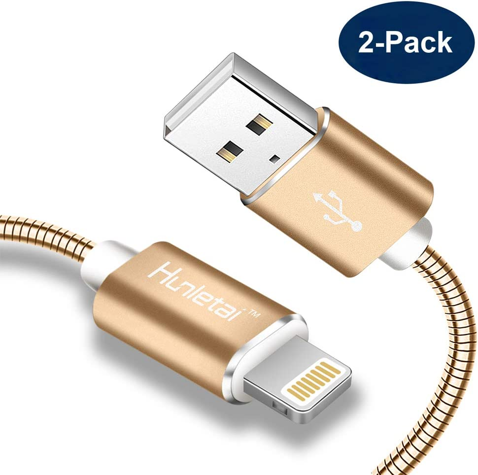 Hunletai Cable Lightning a USB Metálica Carga Rápida Cable iPhone ...