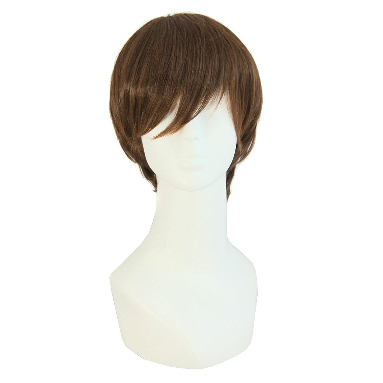 MapofBeauty Fashion Men's Short Straight Wig (Brown)