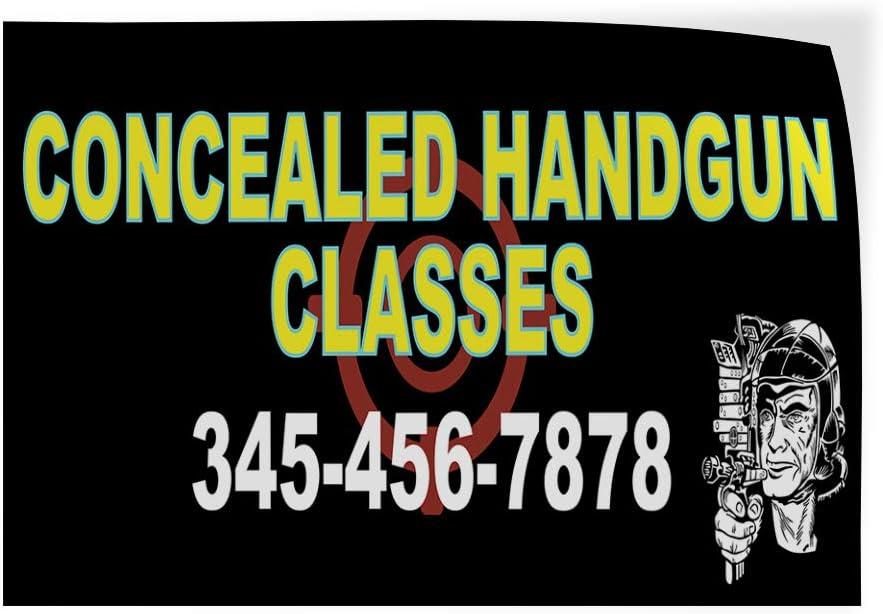 Custom Door Decals Vinyl Stickers Multiple Sizes Concealed Handgun Classes Black Education Concealed Handgun Classes Outdoor Luggage /& Bumper Stickers for Cars Black 64X42Inches Set of 2