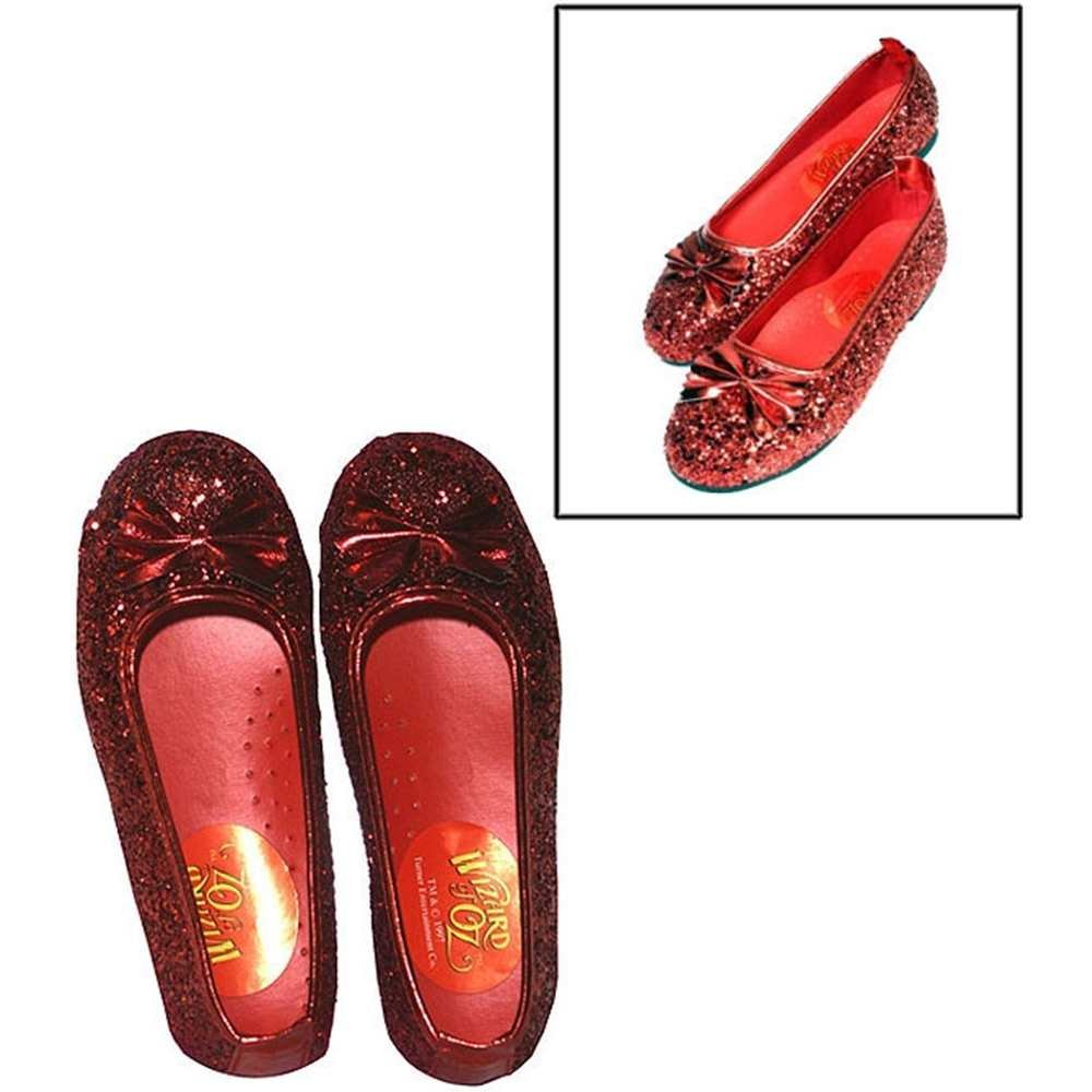 Wizard of Oz Child's Deluxe Dorothy Ruby Red Slippers Rubies 39905XS