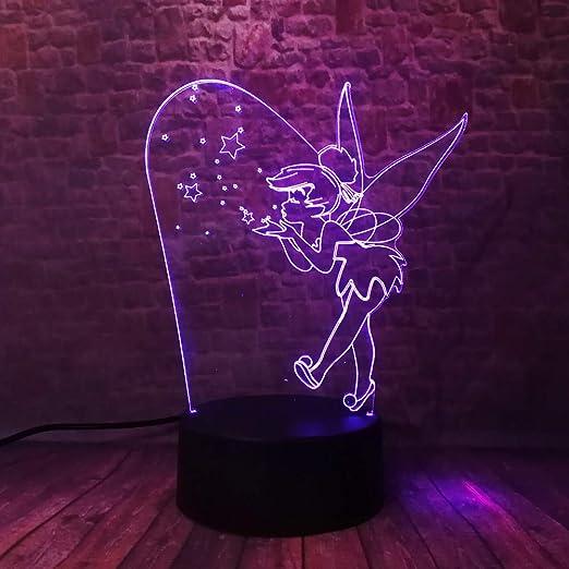 WoloShop LED-Leuchte Tinkerbell Peter Pan Wechsel Farbe USB Nachtlicht