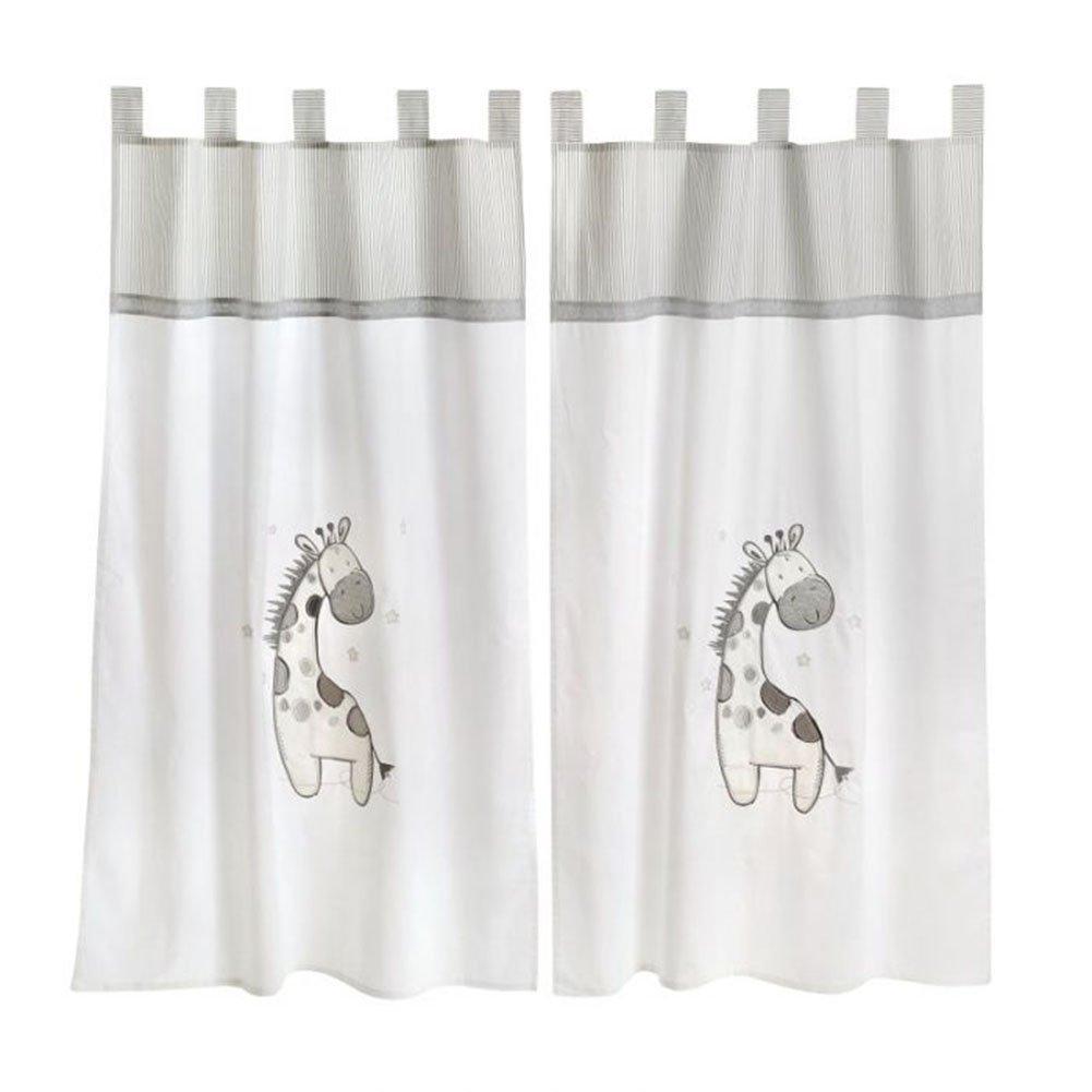 Gray Giraffe Crib Bedding Accessory - Window Curtain