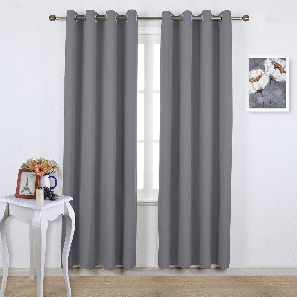 Amazon: Nicetown Blackout Curtains Panels For Bedroom  Three Pass  Microfiber Noise Reducing Thermal Insulated Solid Ring Top Blackout Window  Drapes