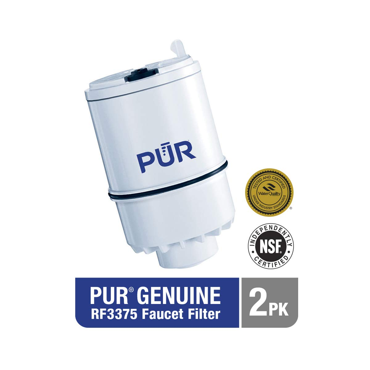 PUR (RF33752V2) Faucet Mount Replacement Filter, (2 Pack), Multicolor, 2 by PUR