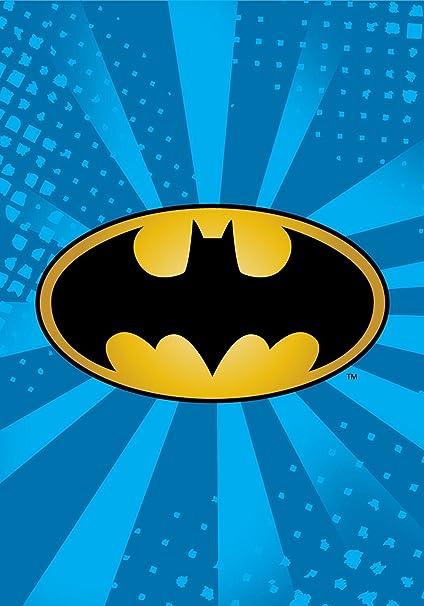 f0879f902a Amazon.com  Batman Emblem Starburst Blue Luxury Plush Blanket 60 x80 ...