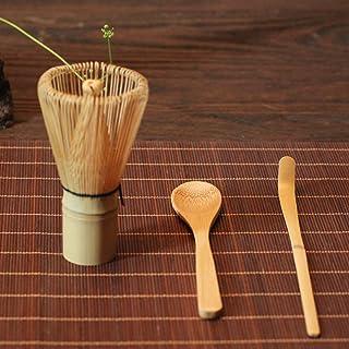 fouet de th/é vert en bambou Matcha ensemble de c/ér/émonie Ensemble de trois cuill/ères /à th/é traditionnelles Ensemble de trois pi/&egrav support pour cuill/ère et fouet profond Ensemble de th/é japonais