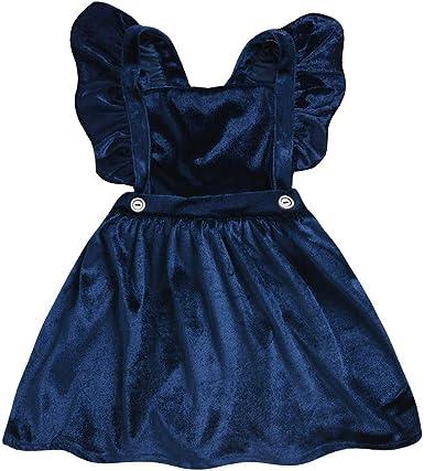 Toddler Kids Baby Girl Ruffle Sleeveless Cotton Plaids Casual Dresses