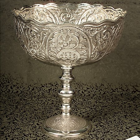 Silver Footed Bowl - Godinger Footed Bowl
