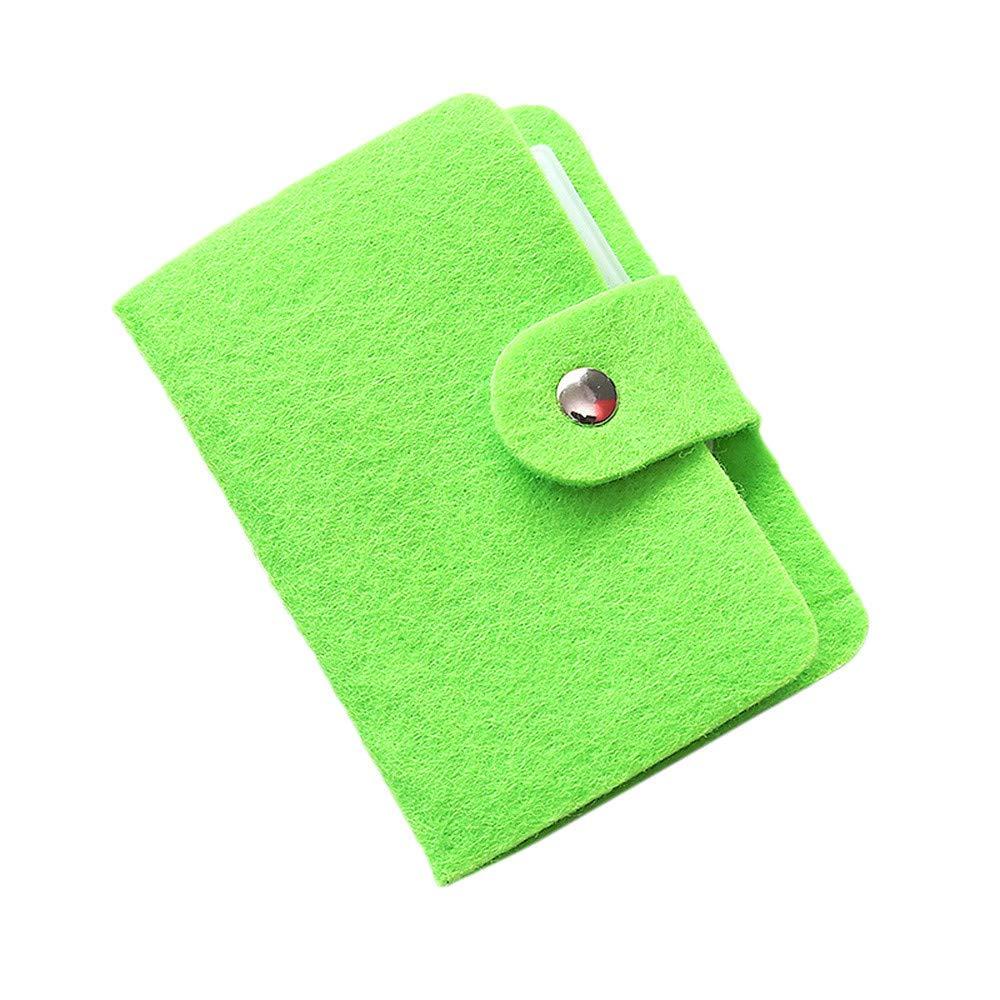 Pulison Men's Wallet Leather Credit Card Holder Blocking Zipper Thin Pocket RFID Front Pocket Wallet Minimalist Secure Thin Credit Card Holder (Green)