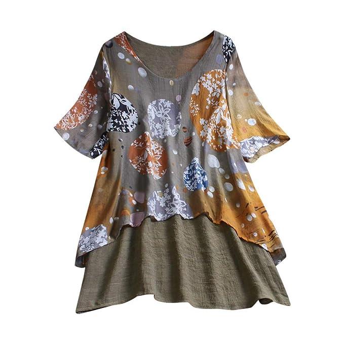 Frauen Baumwolle Leinen Asymmetrische Tops bluse Hemd Damen Sommer Kurzarm