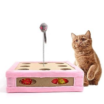 Juguete rascador para gatos, cajas de maquillaje para gatos, almohadilla interactiva para entrenamiento,