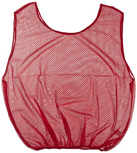Sportime Mesh Scrimmage Vest - Adult Size - Red ()