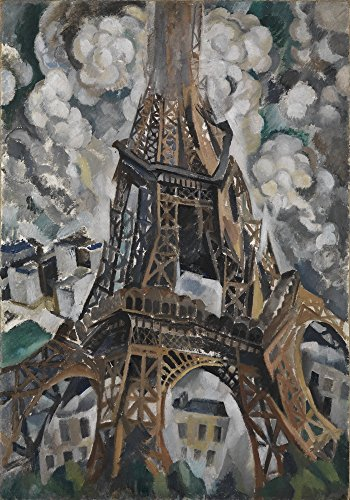 (Berkin Arts Robert Delaunay Giclee Canvas Print Paintings Poster Reproduction(The Eiffel Tower))