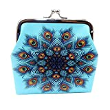 Women's Print Coin Purse Money Bag Change Card Holders Small Wallet Clutch (C)