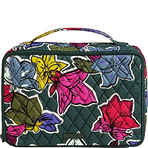 Vera Bradley Luggage Women's Large Blush & Brush Makeup Case Falling Flowers Cosmetic Bag
