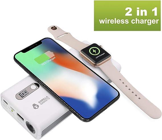 Gorilla Gadgets - Cargador rápido para iPhone y Apple Watches, 3 A Tipo C, batería Externa de Gran Capacidad: Amazon ...