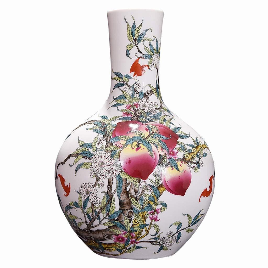花瓶セラミックスアンティークパステル磁器エナメル花瓶リビングルームフラワーアレンジメント中国の家の装飾工芸品装飾品 LQX B07SNPYVL1