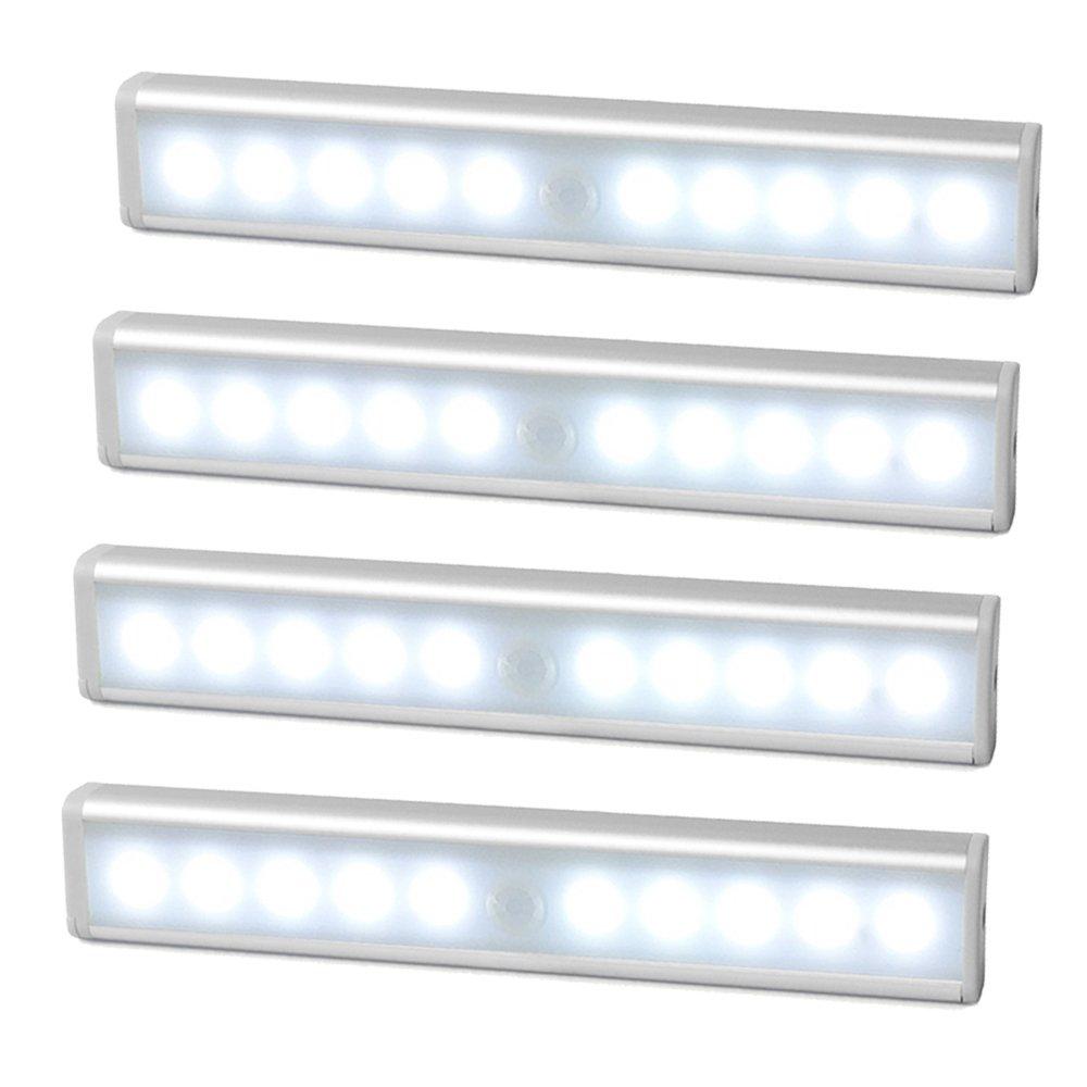 JESWELL Lámpara LED del Armario Barra de Luz LED Nocturna Inalámbrica con Sensor de Movimiento Wireless para Pasillo Baño Armario Cocina, ...