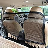 """WATTA Pet Car Net Barrier, Keep Pets Off The Front Seat, Pet Vehicle Barrier Net Backseat Mesh for Cars, Vans, SUV's and Trucks (45"""" x 24""""/115 x 62cm)"""