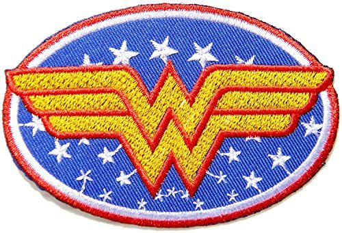 Wonder Women Superhero Comics Cartoon Logo Kid Baby Girl Jacket T shirt Patch Sew Iron on Embroidered Symbol Badge Cloth Sign Costume ()