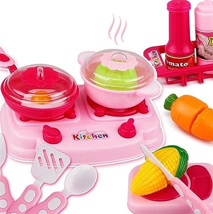 Hosaire 15 Piezas Corte de Juguetes de Frutas Hortalizas y Pizza Juego de Plástico Para Niños
