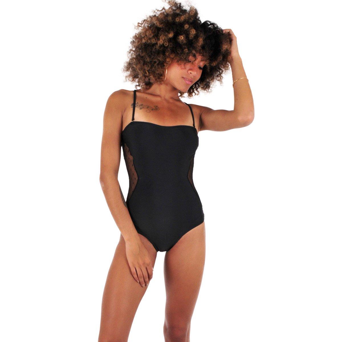 1af64ae04b Maillot de Bain Une pièce Bustier Noir Foulard MACHA - XS: Amazon.fr:  Vêtements et accessoires