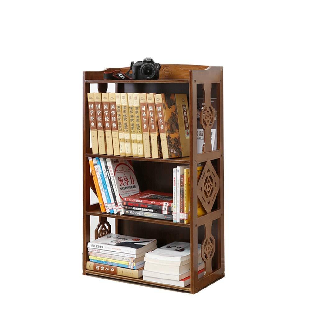 comprar nuevo barato Small QARYYQ Estantería de bambú patrón Hueco Hueco de de de Doble librería Estante de Almacenamiento en el Piso de la Sala de exhibición 101x28x43cm Soporte de Libro (Talla   S)  venta mundialmente famosa en línea