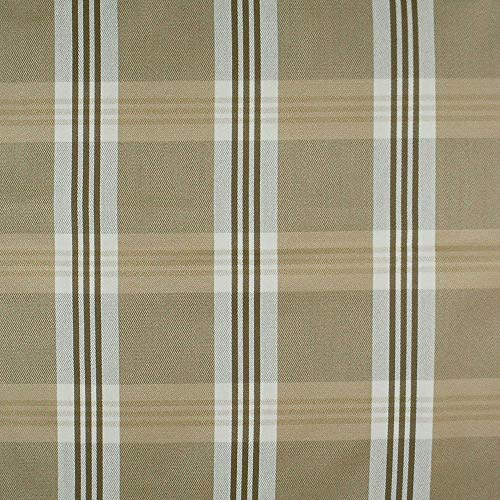 Plaid Outdoor Fabric - Outdura Fabric by The Yard Treasure Chino