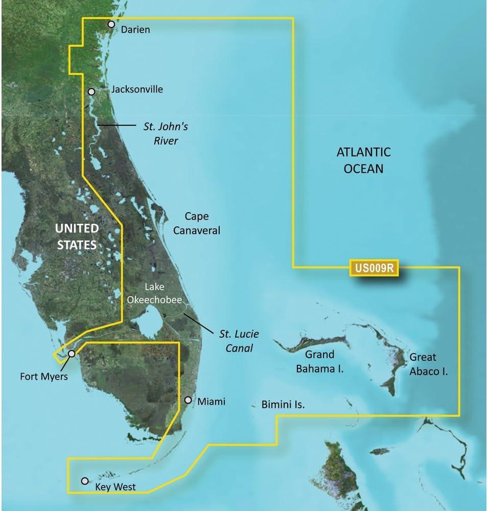 Jacksonville to Key West SD Card Garmin VUS009R