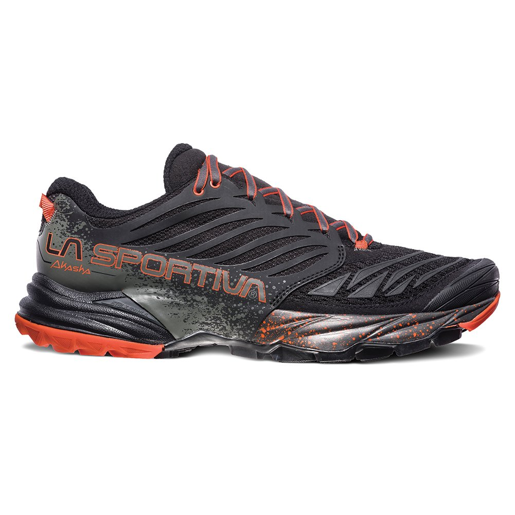 La Sportiva Men's Akasha Trail Running Shoe B071WNKQDN Medium / 46 M EU / 12.5 D(M) US|Black/Tangerine