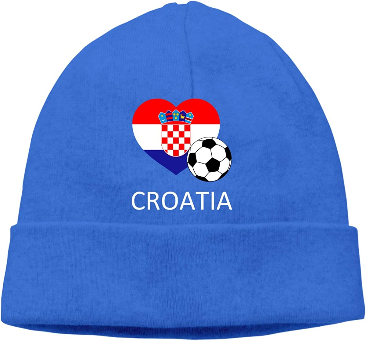 Beanie Hat Love Croatia Soccer Warm Skull Caps for Men and Women