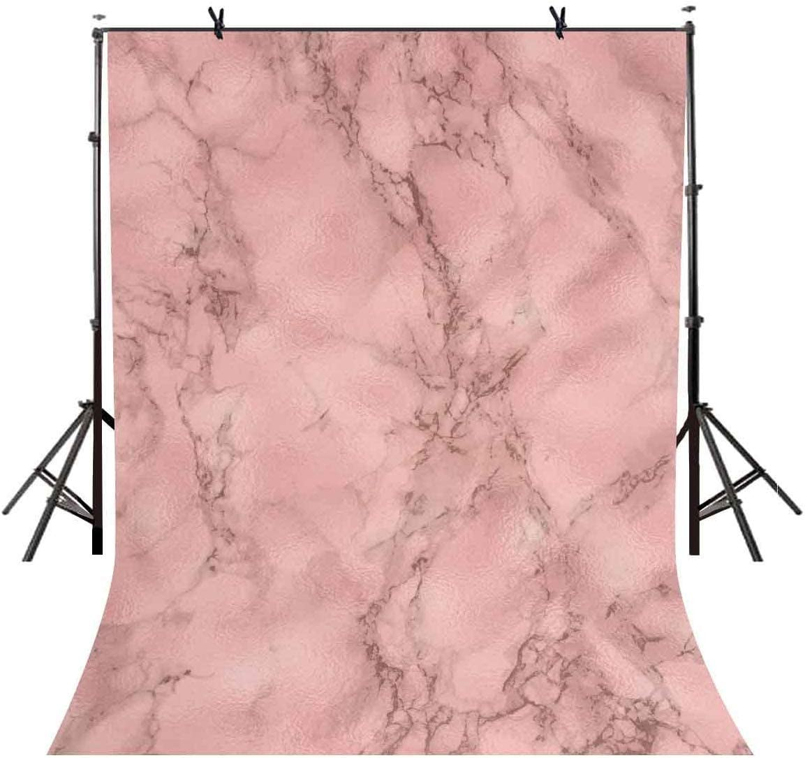 CdHBH 10x12ft Simple Style Light Pink Marble Pattern Vinyl Material Studio Background Cloth Festival Venue Party Layout Photo Studio Photo Background Wallpaper Home Decoration