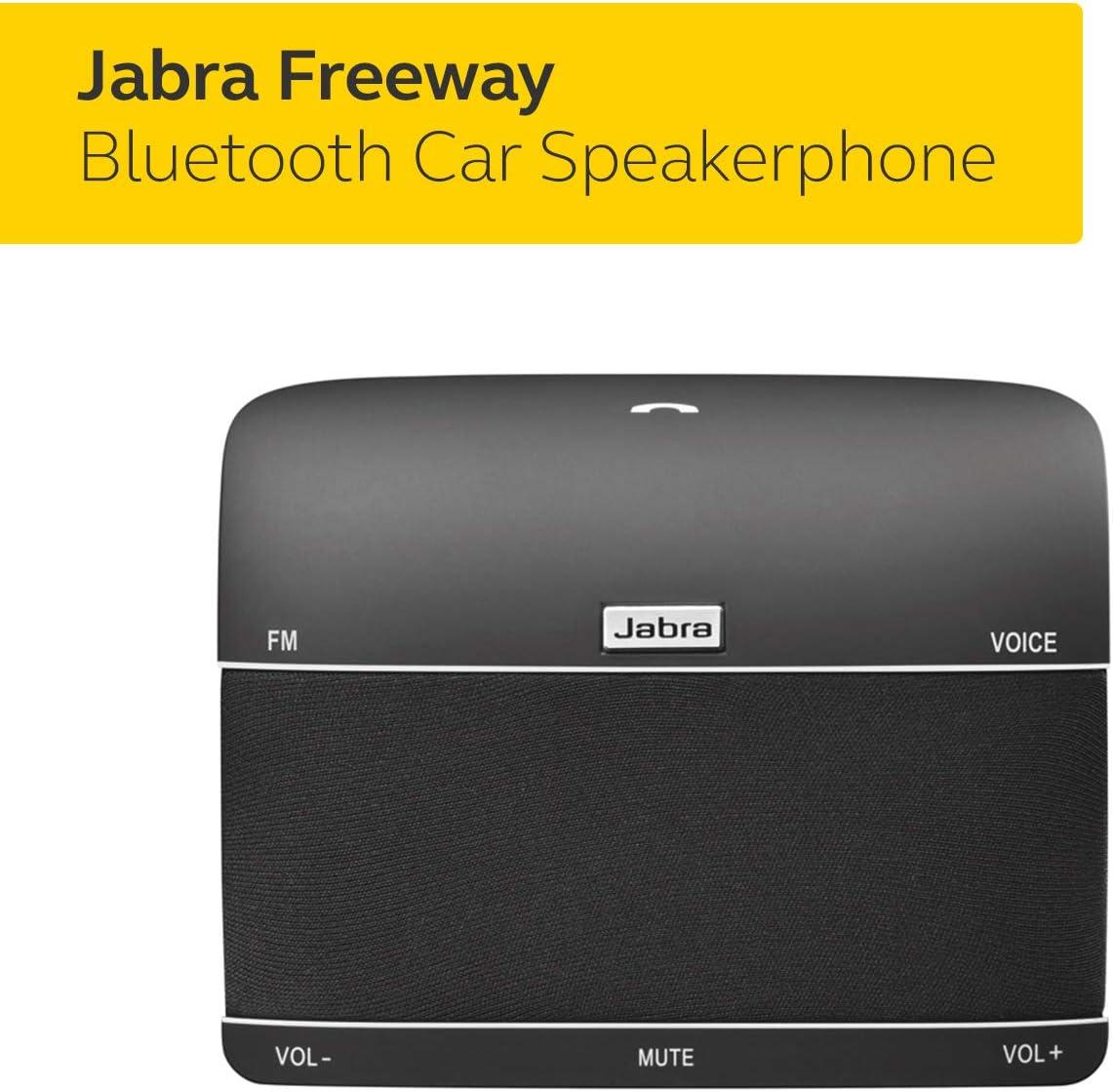 Renewed Jabra 100-46000000-02 Freeway Bluetooth in-Car Speakerphone U.S. Retail Packaging