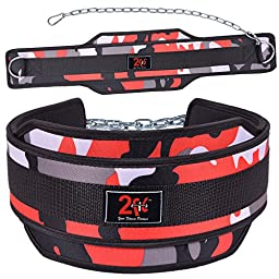 2Fit Weight Lifting Belt, Neoprene Belt Exercise Belt Heavy Chain in 11 Colors (Red Camo)