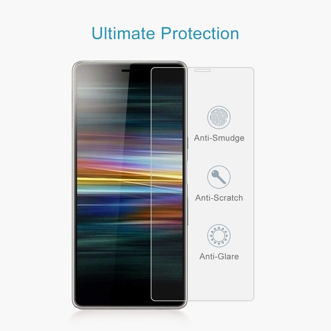 Wangl Mobile Phone Tempered Glass Film 100 PCS 0.26mm 9H 2.5D Tempered Glass Film for Sony Xperia L3 Tempered Glass Film