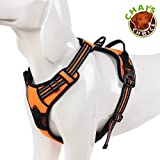 Chai's Choice Best Outdoor Adventure Dog Harness. 3M Reflective Vest with Handle and Two Leash Attachments. CAUTION - Please Use Sizing Chart at Left Before Ordering! Matching Leash Available!
