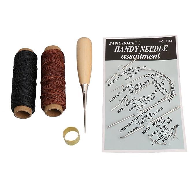 bqlzr Leder Craft Hand Sticken Nähen Werkzeug-Set mit Gewinde ...
