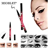 MIOBLET Black Eyeliner Pencil Lasting Drama 36H Liquid Makeup Beauty Natural Eyes Pen Eye Liner Pencil