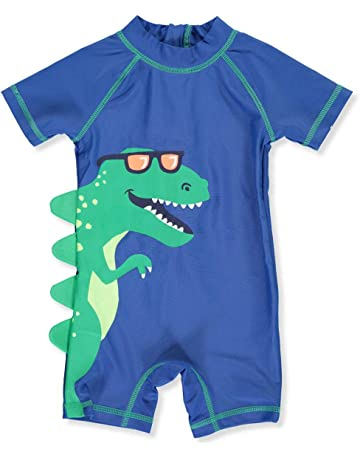 bf9eaad9b0 Carter's 1 Piece Baby Boy's Dinosaur Rashguard Swim Bathing Suit ...