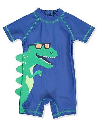05aac67343 Amazon.com: Carter's 1 Piece Baby Boy's Dinosaur Rashguard Swim Bathing  Suit 50+ UPF: Clothing