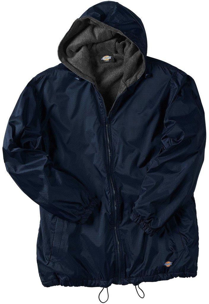 Dickies Big Men's Hooded Nylon Zip Jacket 2XL Navy #953 by dickies